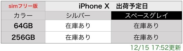 iPhoneX simフリー在庫