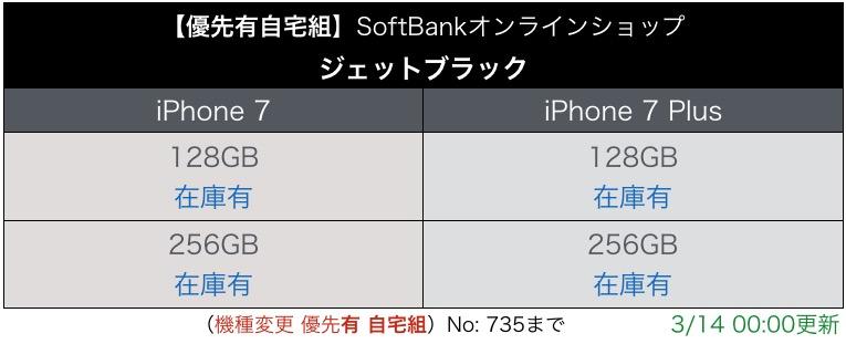 """""""iPhone7優先有り入荷表"""""""